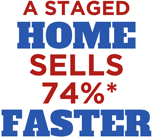 a staged home sells 74 % faster